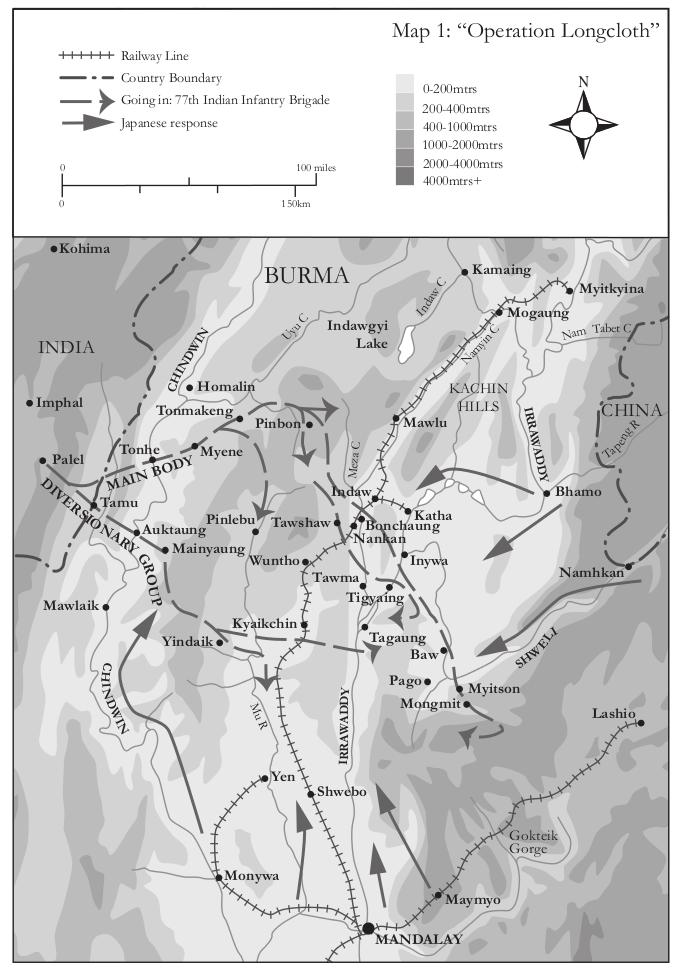 Map 1 Burma - Operation Longcloth