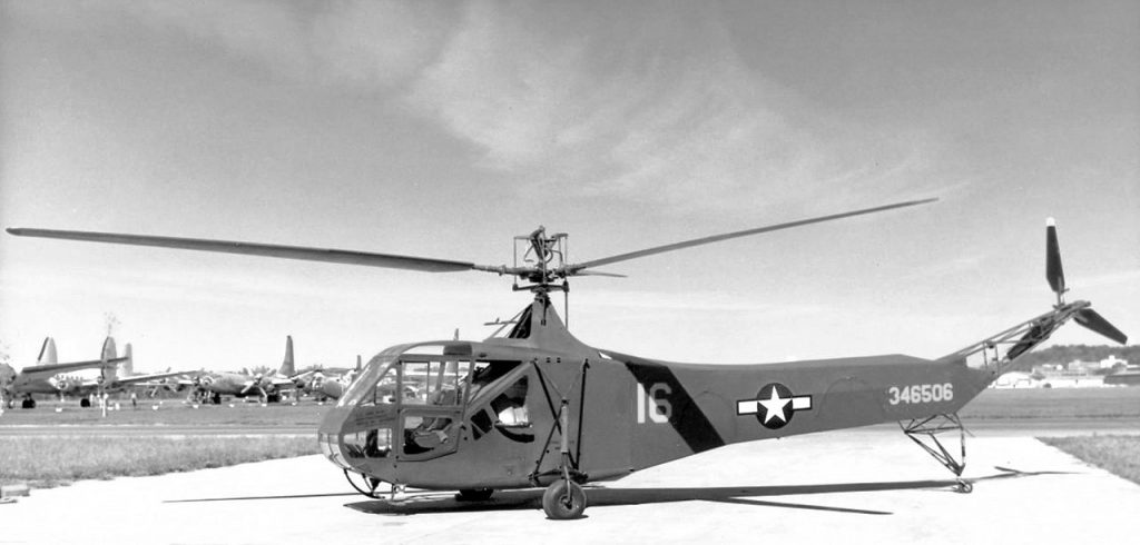 A Sikorsky YR-4 type helicopter.