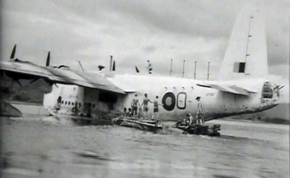 Sunderland flying boat DP180 nicknamed Gert by the Chindits.