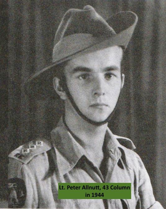 Lieutenant Peter Allnutt, 32 Column.
