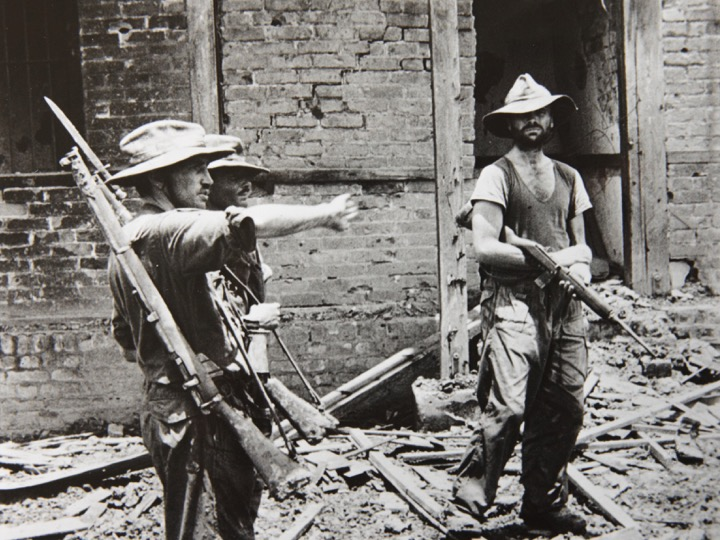 Brigadier Calvert directs operations in the clearance on Mogaung.