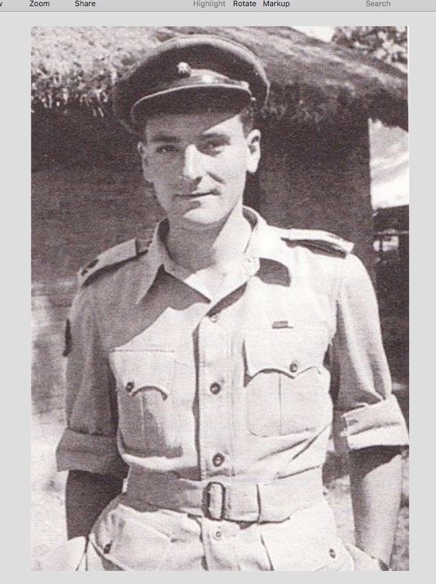 Major William (Bill) Towill 3/9 Gurkha Rifles.