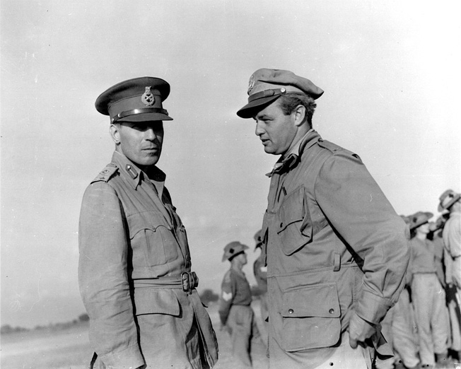 General Wingate and Colonel Philip Cochran USAAF.