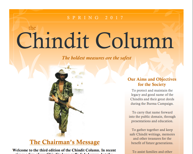 The Chindit Column - Spring 2017