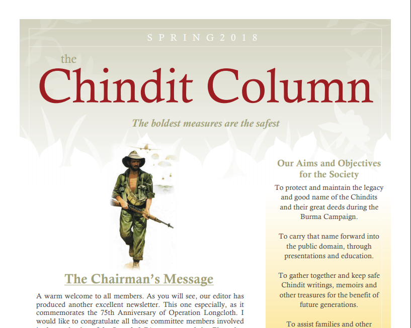The Chindit Column - Spring 2018