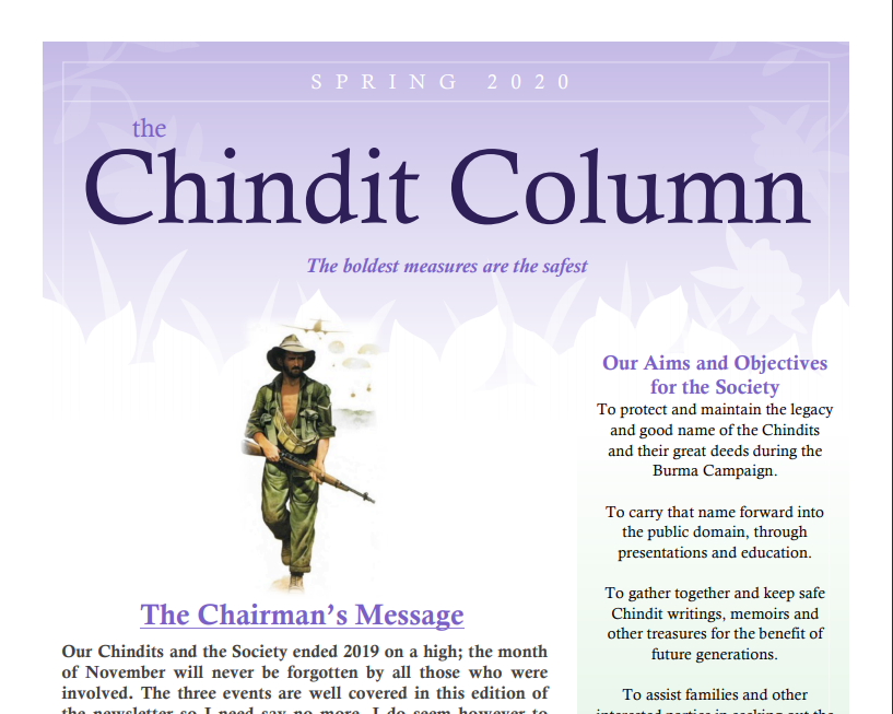 The Chindit Column - Spring 2020